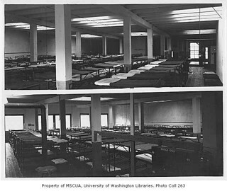 Salvation Army Interior Showing Empty Beds