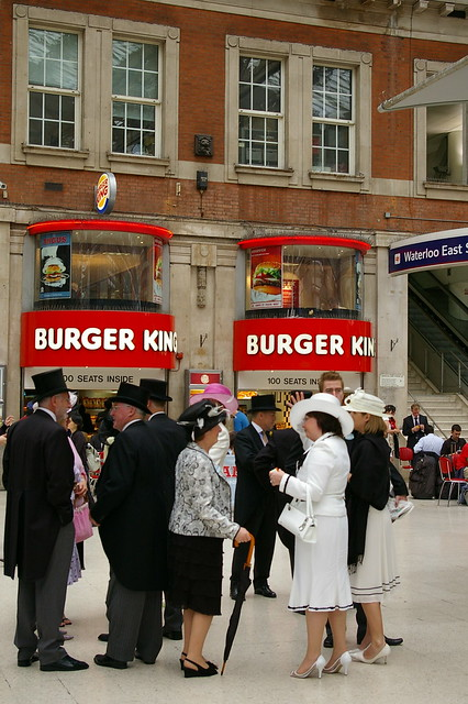 Burger King, Waterloo Station by Mïchael