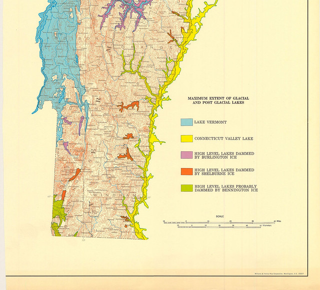 Map of Post Glacial Lake Extent Vermont This map shows wh Flickr Phot