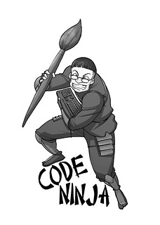 Code ninja tshirt flickr creative commons image by juhansonin