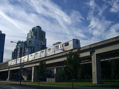 metropolitan area, vehicle, train, transport, rail transport, public transport, architecture, overpass,
