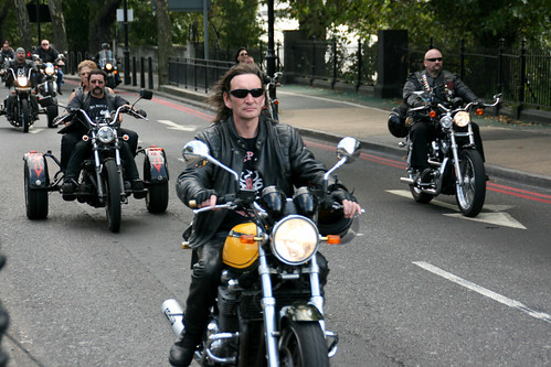 "Hell's Angels' ""Gentleman Gerry"" Funeral Cortege Goes Through London"