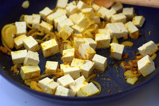 tofu, spinach and okra stirfry | Flickr - Photo Sharing!