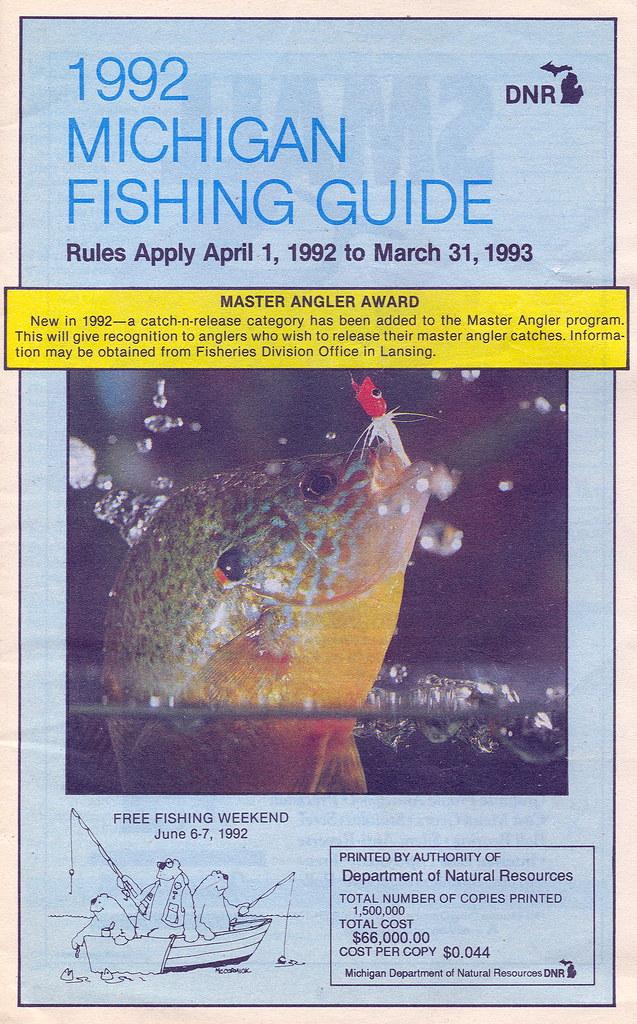 1992 michigan fishing license guide 1992 michigan for Michigan fishing regulations