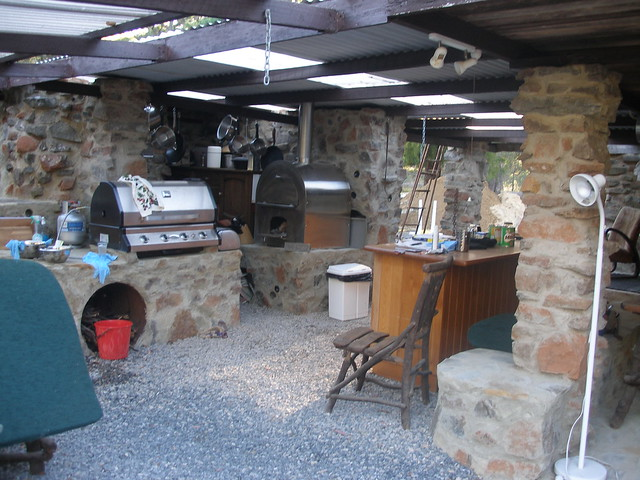outdoor kitchen with pizza oven flickr photo