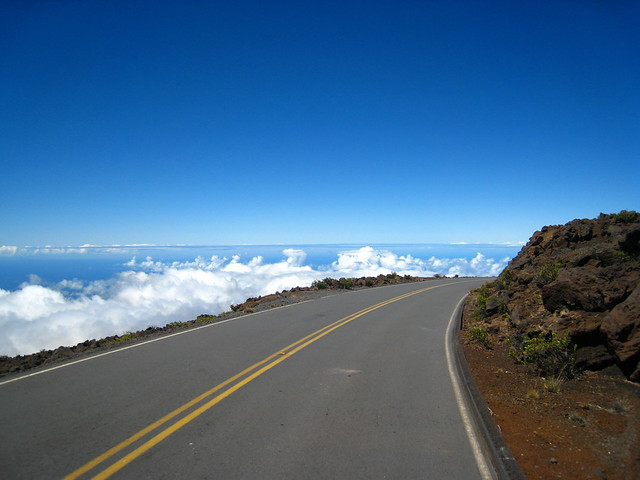 the road up to Haleakala... above the clouds