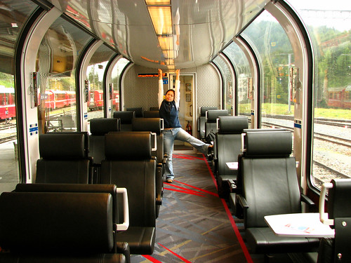 Bernina Express train interior