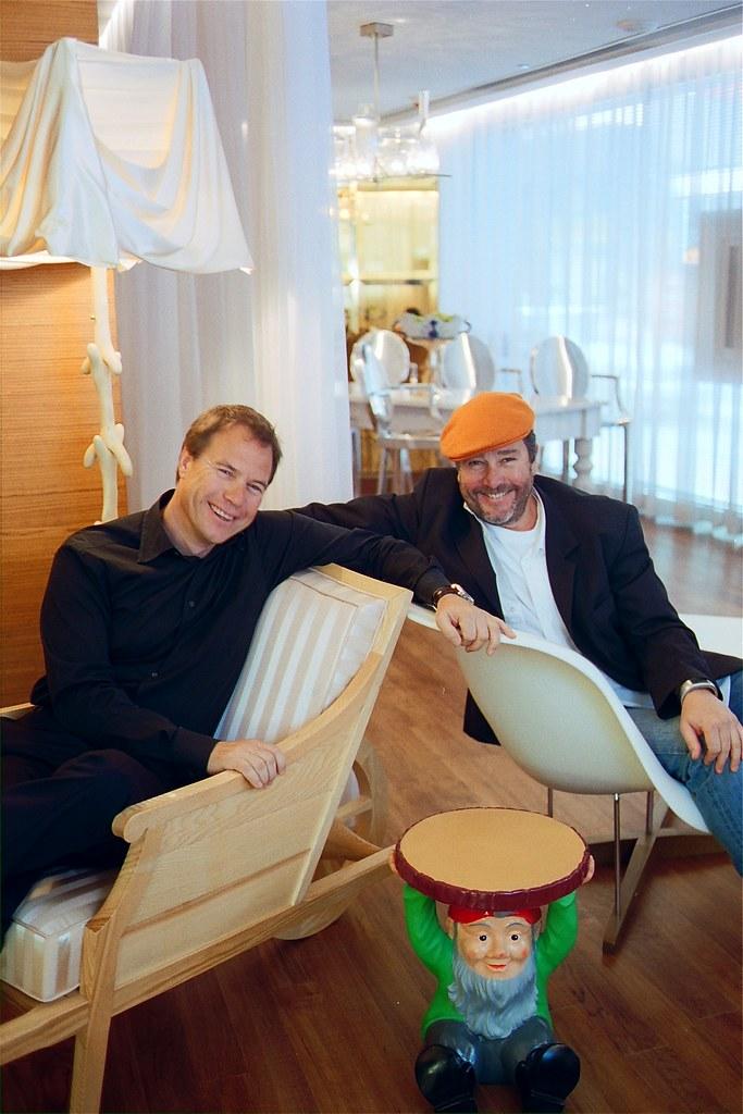 John Hitchcox and Philippe Starck at JIA Hong Kong