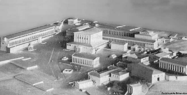 Ancient Agora of Athens: Model. | Buildings and structures ...