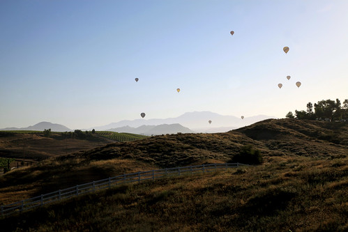 california morning usa mountains fog sunrise balloons landscape hills winery vineyards valley grapes hotairballoon temecula rollinghills