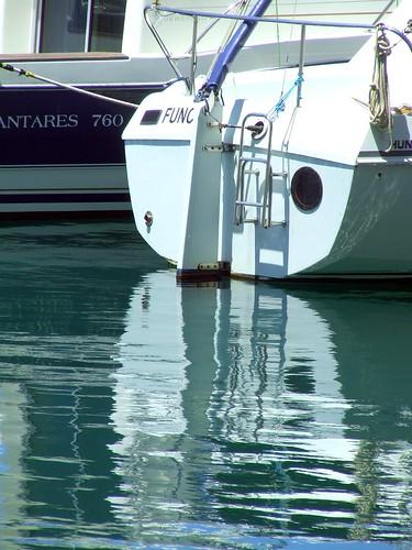 Madeira - Calheta Marina Stern Reflection