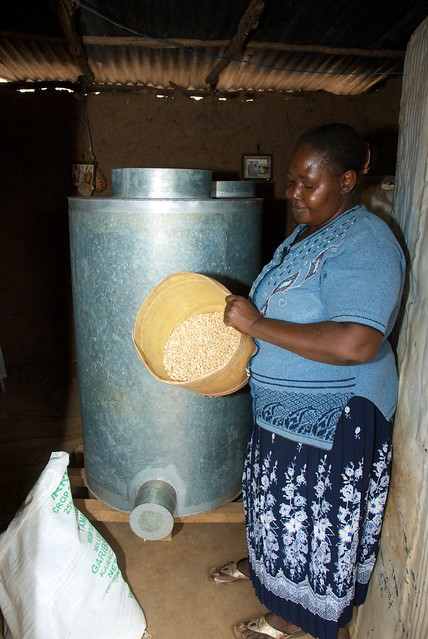 Maize Grain Stored In Metal Silo Kenya Flickr Photo