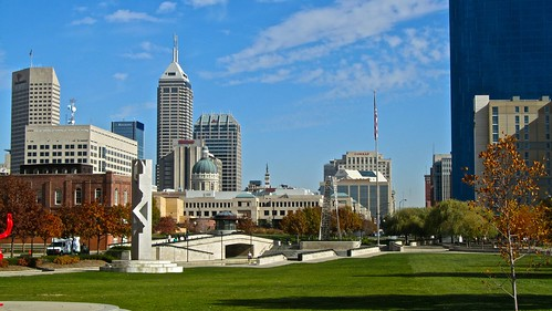 Indianapolis skyline from White River Park