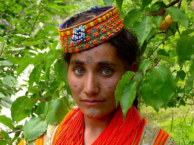 Kalash Lady With Simple Face Tatoo