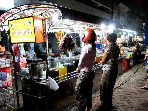 Night Vendor in Vientiane, Laos