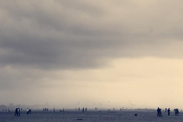 Cyclone Day - Chennai Marina Beach