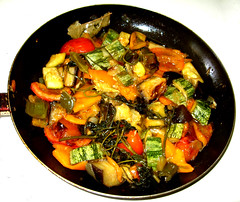 vegetable, vegetarian food, food, dish, cuisine, ratatouille,