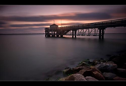 longexposure gulfofmexico sunrise pier texas portaransas nd110 bw110 sunsetmania pullfolio utresearchpier