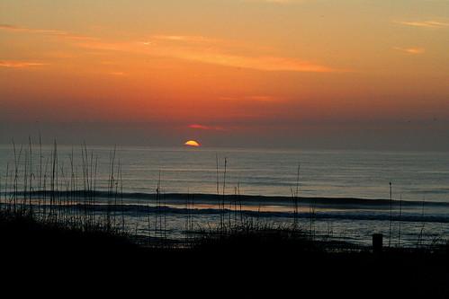 sea sky beach sunrise surf florida fernandinabeach