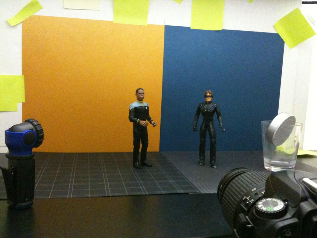 Lieutenant Commander Geordi La Forge vs. Cyclops Setup