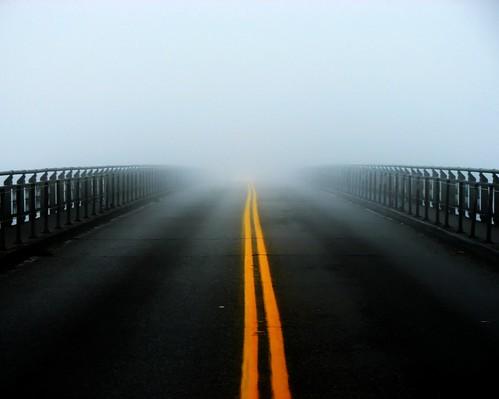 road usa fog vanishingpoint washington whidbeyisland anacortes 2007 skagitcounty deceptionpassbridge fidalgoisland swortz