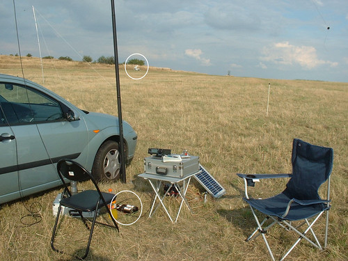 QRP-Station with solar energy