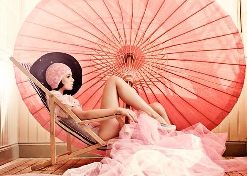 fashion - umbrella and swim cap