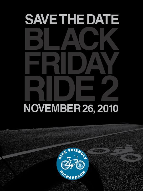 save the date black friday ride 2 november 26 2010 suburban assault. Black Bedroom Furniture Sets. Home Design Ideas