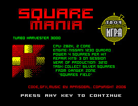 SquareMania (Part 1) Screenshot 1 | by Aprisobal