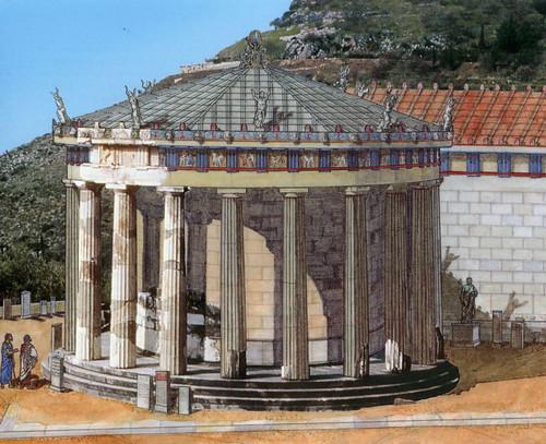 Resultado de imagen de Templo de Atenea en Delfos