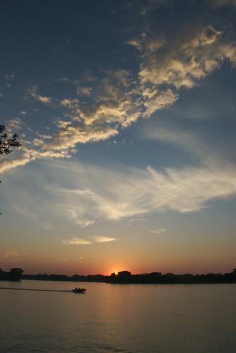 sunset vacation clouds iowa laborday salix