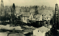 Oil Wells in Los Angeles, California, about 1900