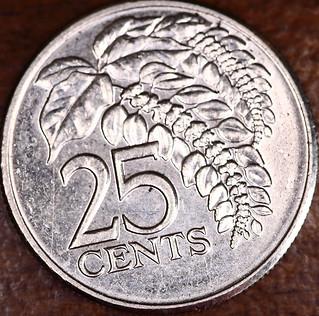 25 Trinidad and Tobago Cents