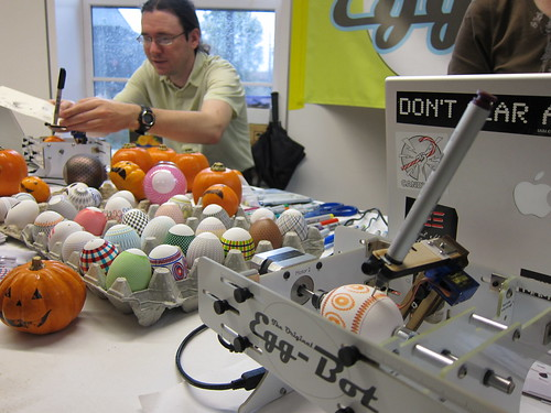 Egg-Bot at East Bay Mini Maker Faire in 2010