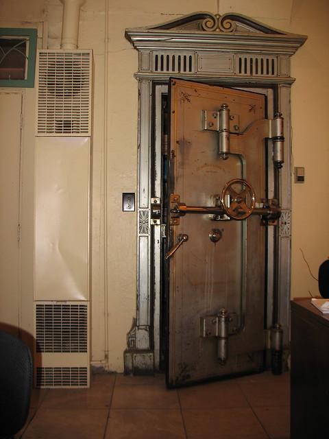 Old Bank Vault Door In A Jewellery Shop In Flagstaff
