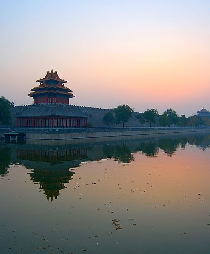 Corner Tower at Dusk, Forbidden City, Beijing