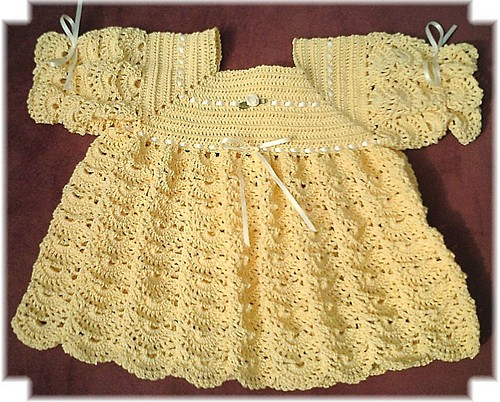 Crocheted Layette Dress