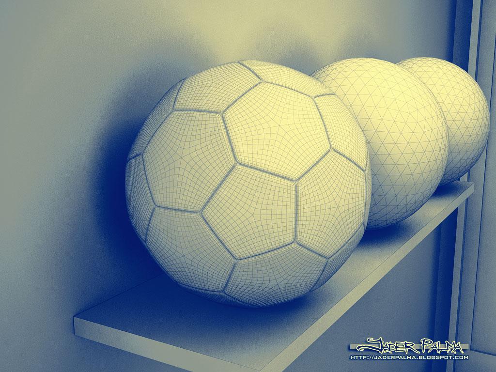 Bola  de futebol wireframe by Jader Palma