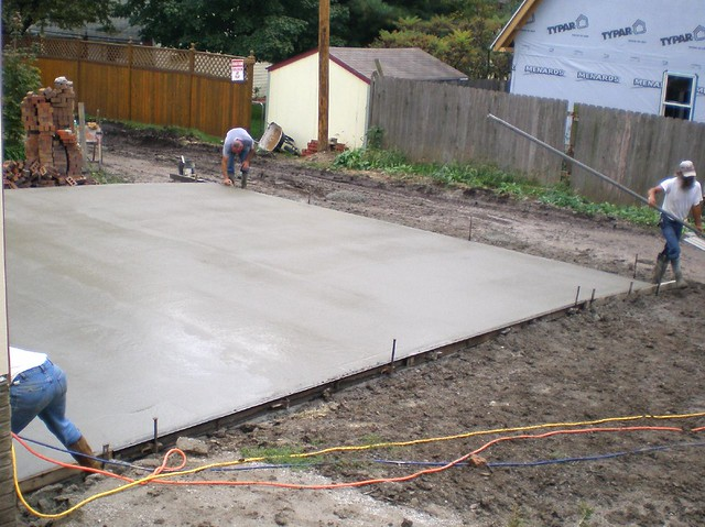 20071005 south driveway concrete pour flickr photo for Pouring concrete driveway