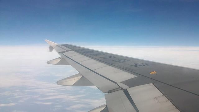 南航空客a320的机翼·天空