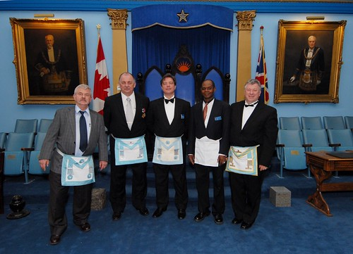 The Polish speaking contingent at the Masonic Installation of W.Bro. Frank Veri at University Lodge 496 Toronto Ontario Canada