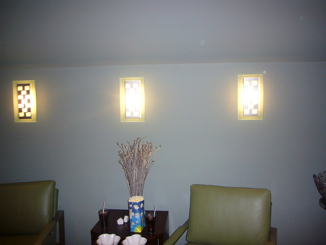 Wall Sconces For Media Room : another media room - wall sconces Flickr - Photo Sharing!