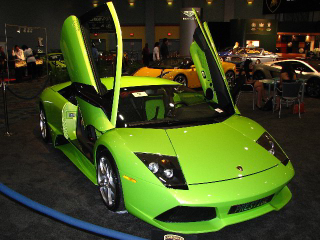 Green Lamborghini Exotic Sports Car South Florida
