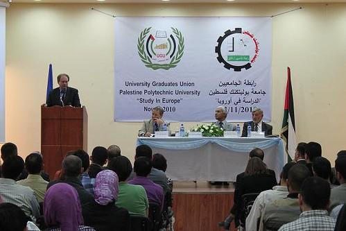 في يوم فلسطين أوروبا جامعة الدراسة رئيس الأوروبية يفتتح المفوضية بوليتكنك