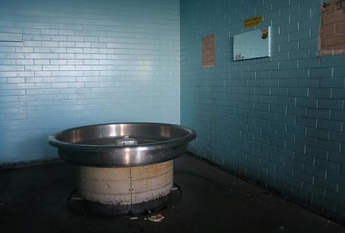 Communal hand washing basin