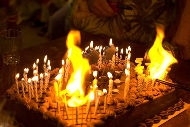 Birthday cake on fire Flickr - Photo Sharing!