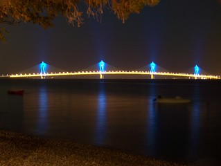 rio bridge at night