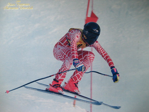 Me racing DH at Sun Valley in 1989