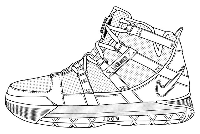 coloring pages of nike shoes - Lebron James Shoes Coloring Pages