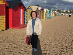 Aunt Lee Leng at Brighton Bathing Boxes